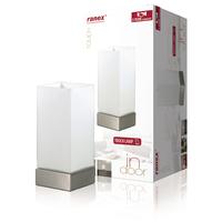 Lampe de table Fonction tactile 40 W Blanc brossé