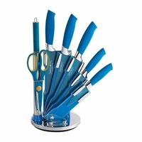 Bloc de 7 couteaux bleu Royalty Line