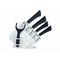 Coffret 6 couteaux en titane - couleur noire