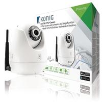 HD Caméra de surveillance IP Pan-Tilt Intérieur 720P Blanc