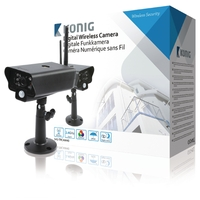Caméra sans fil 2.4 GHz Extérieur VGA Noir