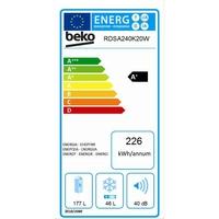Beko rdsa240 K20 W fraîche et gefrieren/A +/145 cm/229 kWh/an/179 l partie isotherme/49 partie Congélateur/automatique abtauung [Classe énergétique A+]