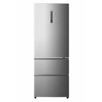 Haier A3FE742CMJ Autonome Acier inoxydable 270L 122L A++ réfrigérateur-congélateur - réfrigérateurs-congélateurs (Autonome, Bas-placé, A++, Acier inoxydable, SN-T, LED) [Classe énergétique A++]