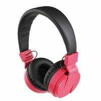 Casque compatible Bluetooth® rouge TES148R