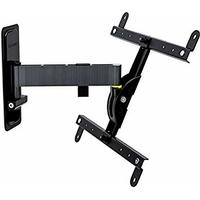 Erard 048240Support pour TV, métal, noir, 32,5x 9.7x 29cm