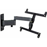 Erard 048340Support pour TV, métal, noir, 53.8x 9.7x 29cm