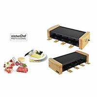 kitchenchef kcwood. 81200W Acier Inoxydable, bois Raclett électrique–Raclette (1200W, 499mm, 220mm, 122mm, 2,5kg)