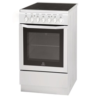 Indesit I5VMC1A(W) FR Autonome A Blanc four et cuisinière - fours et cuisinières (Cuisinière, Blanc, Rotatif, Devant, Electrique, 57 L) [Classe énergétique A]