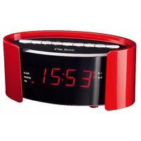 Clipsonic AR306R Radio-réveil FM PLL avec prise secteur Rouge