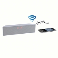 Clip Sonic Technology TES157W Haut-parleur Bluetooth pour Smartphone/iPhone/Tablette/PC Blanc