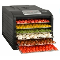 Kitchen chef - secco 6 black - D�shydrateur fruits et l�gumes 6 plateaux 500w