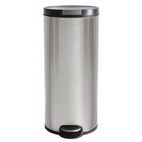 Soehnle Poubelle Cylindrique Inox Brossé 30 L