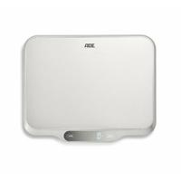 ADE KE1601 Ladina Balance de cuisine numérique Plastique Argent-Gris 20 x 23 x 2 cm