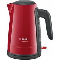 Bosch twk6a014Bouilloire Comfort Line, fonction de 1tasses, arrêt automatique–à vapeur, Filtre anti-calcaire entnehmen, 2400W, rouge/anthracite