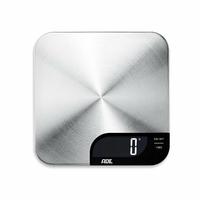 ADE KE 1600Alessia. Balance Electronique Balance de Cuisine avec Plateau en acier inoxydable brossé, pour un Peser jusqu'à 5kg. Avec Fonction Tare. Pile incluse. Argent