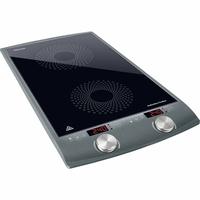 Sencor SCP 4202GY Plaque de cuisson à induction double zone - 2900W - Diamètres de 145 et 167 mm - Contrôle de la température entre 60 et 240°C par étape de 20°C