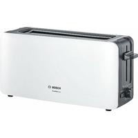 Bosch tat6 a001 longue Grille-pain 2 fentes Comfort Line, pain automatique ZENT rierung, fonction décongélation, 1090 W Blanc/Gris foncé