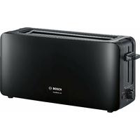 Bosch TAT6A003 longue Grille-pain une fente Comfort Line, pain automatique ZENT rierung, fonction décongélation, 1090 W Noir