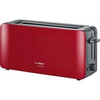 Bosch tat6 a004 longue Grille-pain 2 fentes Comfort Line, pain automatique ZENT rierung, fonction décongélation, 1090 W, rouge/anthracite