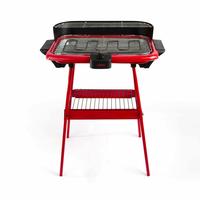 BE NOMAD DOM297R Barbecue Électrique sur Pieds, Rouge, Rouge/Noir