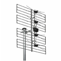 "'Wisi 72516 ""EE 06 0297 Antenne UHF surfaces canaux Argent"