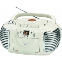 AEG NSR 4377 Lot Rétro Cassette Radio stéréo avec lecteur CD/MP3/USB avec kassettenplayer, AUX-IN, écran LCD Crème