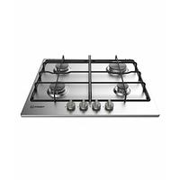 Indesit THP 642 IX/Les encastrable plan cuisson à gaz Noir, Acier inoxydable Cuisson