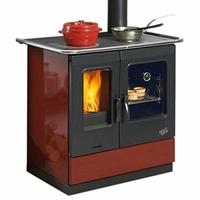 Cuisinière à bois GODIN - 241100CARMIN Largeur 95 cm - 6,5 KW-Rdt:85%-CO:0,08%-Série Armonnie-Vision de la flamme-Carmin
