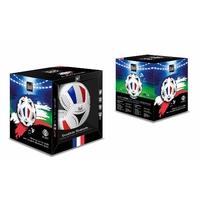 Enceinte bluetooth Ballon de Foot Revêtement Cuir Synthetique - Taille 18 cm - socle inclus - Puissance 20 W (FRANCE)
