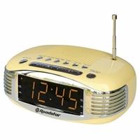 Roadstar CLR-1966/CR Radio-réveil de style rétro avec écran LED et entrée Aux