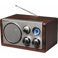 Roadstar HRA-1245WD Radio analogique portable en bois FM, MW, 1 voie, AA, courant alternatif, batterie CC