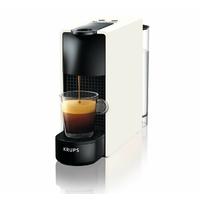 Krups YY2912FD Machine à Café Nespresso Essenza Mini Compacte Espresso Lungo Capsules 19 Bars Réservoir 0,6 L Cafetière Blanche