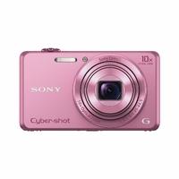 """Sony DSC-WX220P Appareil photo numérique compact Ecran 2,7"""" (6,8 cm) 18.20 Mpix Zoom optique 10x Rose"""