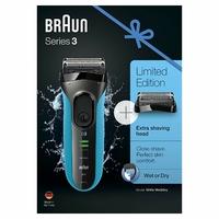 Braun Series 3 ProSkin 3040s Rasoir Électrique Homme Barbe Wet & Dry; Bleu