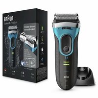 Braun Series 3 ProSkin 3080s Wet & Dry Rasoir Barbe Homme; Base de Charge; Bleu