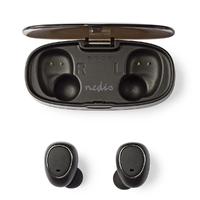 NEDIS HPBT5050BK Ecouteurs sans Fil Bluetooth Intra-Auriculaires avec True Wireless Stereo (TWS) et Housse de Chargement