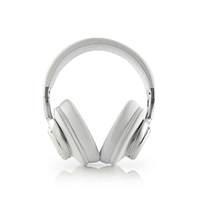 NEDIS HPBT5260WT Casque sans Fil, Bluetooth, Tour d'oreille, Réduction de Bruit Active (ANC), Blanc