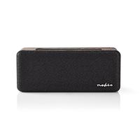 NEDIS SPBT34100BN Haut-Parleur Bluetooth, 30 W, Étanche, Égaliseur, Noir/Marron