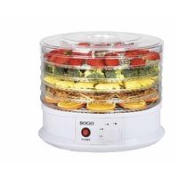 Sogo Déshydrateur d'aliments rotatif pour sécher les et conserver les Nutrientes de fruits, légumes et herbes. Avec contrôle de température et répartition uniforme de la chaleur. 250W