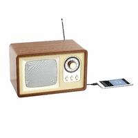 Clip Sonic Technology TES177 Enceinte Radio rétro BT Bois/Beige