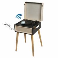 Clip Sonic Technology TES190N Tourne Disque Bluetooth Noir/Beige