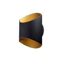 Applique Glam 250 LED U&D - 12W - 3000K - 360Lm - dimmable – Noir/Doré