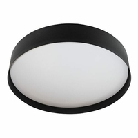 Applique - Plafonnier - Liyo LED - 30W - 3000 K - Noir mat