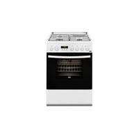 Faure FCM656HPWA Cuisinière Combi A Blanc four et cuisinière - Fours et cuisinières (Cuisinière, Blanc, boutons, Rotatif, Devant, Électronique, Bas) [Classe énergétique A]