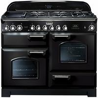 Falcon CDL110DFBLC - Falcon Classic Deluxe 110 Mixte - CDL110DFBLC - Cuisinière (four à deux étages) - pose libre - 110 cm - noir finition chromé