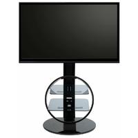 ATECA Circle Noir Support TV sur Pied Orientable