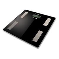 Salter 9193 BK3R Pèse-Personne Personnel électronique Plaza Noir, Acier Inoxydable – Balance avec écran LCD, 25 x 80 mm, Noir, Acier Inoxydable, 302 mm 302 mm, 22 mm