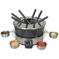 Kitchen chef - ksfd07 - Service à fondue 1000w 8 fourchettes noir/inox