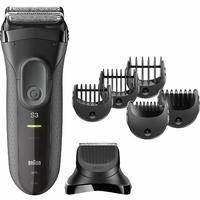 Braun Series 3 3000BT Shave N Style alimenté et sec Gris Tondeuse à barbe – épilateurs pour la barbe (1 mm, 7 mm, Gris, acier inoxydable, intégré, Ni-MH hydrure (NiMH))