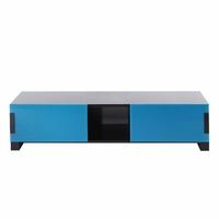 Erard 36571 Bilt 1400 Meuble 2 Plateaux Fermé Acier Bleu 140 x 41 x 33,5 cm